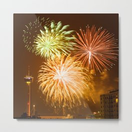 fireworks in san antonio - texas Metal Print