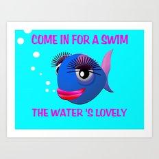 Glamorous Fish Art Print