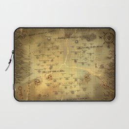 Sea of Thieves Map Laptop Sleeve