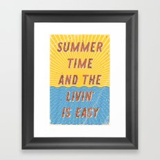 Summertime - A Hell Songbook Edition Framed Art Print