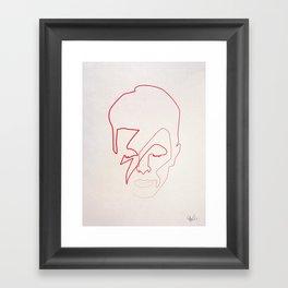 One line Aladdin Sane Framed Art Print
