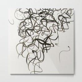 Squiggle Metal Print