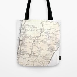 Vintage Greenburgh and Westchester NY Map (1867) Tote Bag
