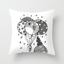 Happy Bday. Throw Pillow