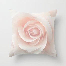 Blush Pink Rose Throw Pillow