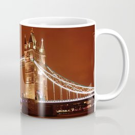 Tower Bridge on the River Thames, London, at night Coffee Mug