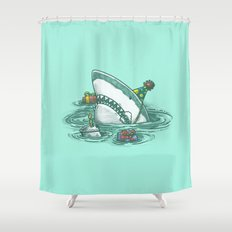 Happy Birthday Shark Shower Curtain