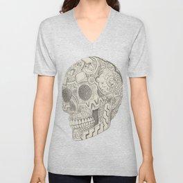 Skull, aztec design Unisex V-Neck