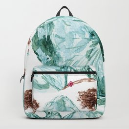 Fashion Blue Turquoise Teal Dress Girl Backpack