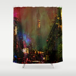 A night in Paris Shower Curtain