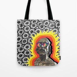 Sculture Wearing Wacky Marble Glasses Tote Bag