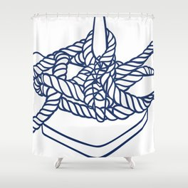 Knotical (WHITE) Shower Curtain