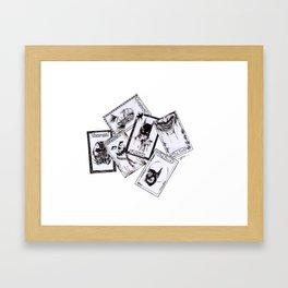 A Gotham Tarot Reading Inktober Drawing Framed Art Print