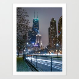 Lake Shore Drive @ Night Art Print