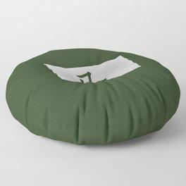 Chinese zodiac sign Horse green Floor Pillow