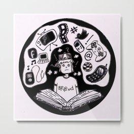 Digital Boy Metal Print