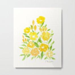 Yellow Summer Bouquet Metal Print