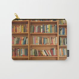 Bookshelf Books Library Bookworm Reading Carry-All Pouch