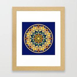 Italian Tile Pattern – Peacock motifs majolica from Deruta Framed Art Print