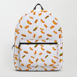 Hot Dog Pattern With Pinstripes Backpack
