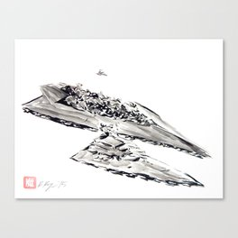 The Imperial Fleet, Empire Strikes Back, Star Destroyers, Darth Vader Canvas Print