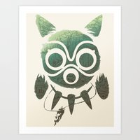 mononoke Art Prints featuring Mononoke by Kiana