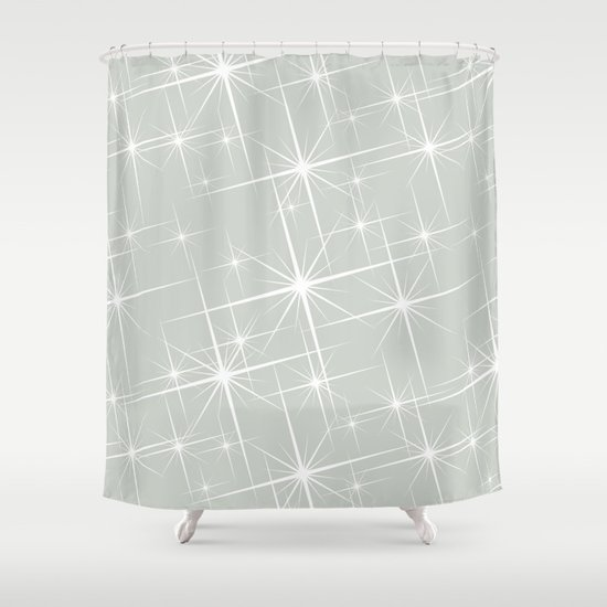 Glitter Sea Salt Shower Curtain
