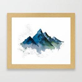 For the mountain lover Framed Art Print
