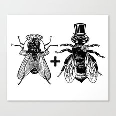 a fly marrying a bumblebee Canvas Print