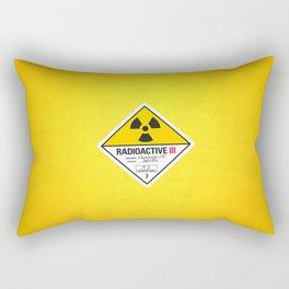 Radioactive sign Back to the future Rectangular Pillow