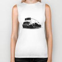 mini cooper Biker Tanks featuring MINI Cooper S by zero2sixty