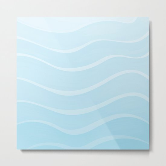 Light Sea Metal Print