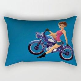 Bikegirl Pinup Rectangular Pillow