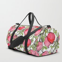 Pomegranate branches watercolor Duffle Bag