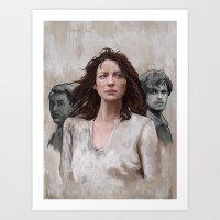 outlander Art Prints featuring Outlander by Gabriella McGregor
