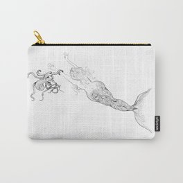 The Octopus and the Mermaid Carry-All Pouch