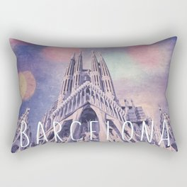 Barcelona Sagrada Familia Rectangular Pillow