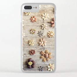 Dried fruits arranged forming flowers (4) Clear iPhone Case
