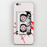 tape iPhone & iPod Skins featuring tape by Sean McFadyen