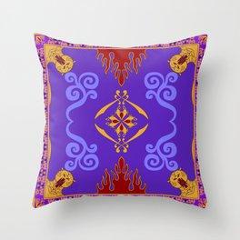 Aladdin's Magic Carpet Throw Pillow
