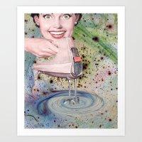 goddess Art Prints featuring GODDESS by Julia Lillard Art