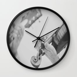 Guitar and Fiddle Wall Clock