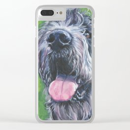 Irish Wofhound Dog Portrait Fine Art from an original painting by L.A.Shepard Clear iPhone Case