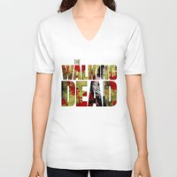rick grimes V-neck T-shirts featuring Rick Grimes Sacrifice and blood by Pablo Napo