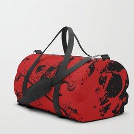 Skull and Crossbones Splatter Pattern Duffle Bag
