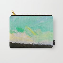 Sunset: Blues, yellows, greens, white and black acrylic. Carry-All Pouch