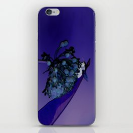 Blooming at Night (violet) iPhone Skin