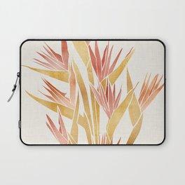Deco Flowers ~ Metallic Birds of Paradise Laptop Sleeve