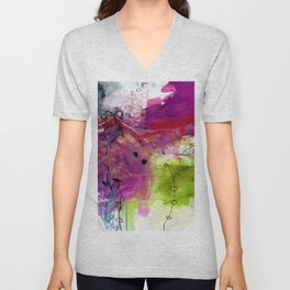 Abstract Composition 6E by Kathy Morton Stanion Unisex V-Neck
