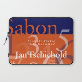 Sabon Typography Poster Laptop Sleeve